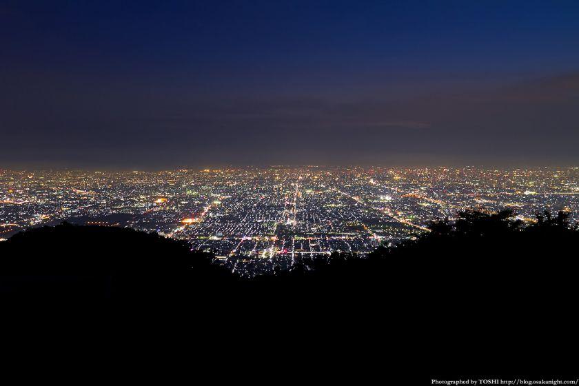 生駒山 なるかわ園地 ぼくらの広場 夜景 01