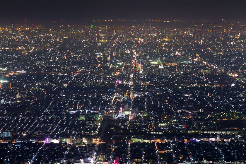生駒山 なるかわ園地 ぼくらの広場 夜景 02