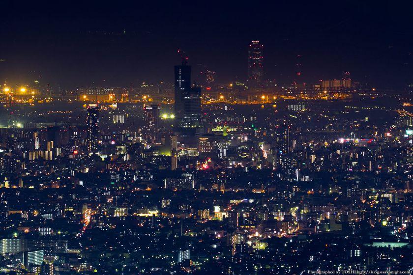 生駒山 なるかわ園地 ぼくらの広場 夜景 (天王寺・阿倍野方面)