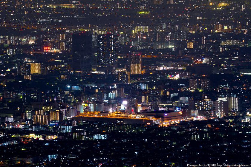 生駒山 なるかわ園地 ぼくらの広場 夜景 (近鉄八尾駅周辺)