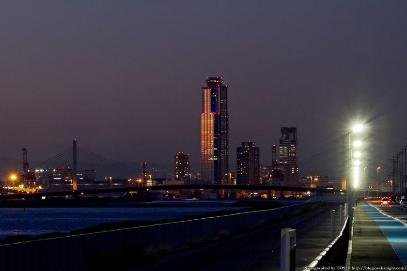 堺浜から南港コスモスクエア方面 夕景