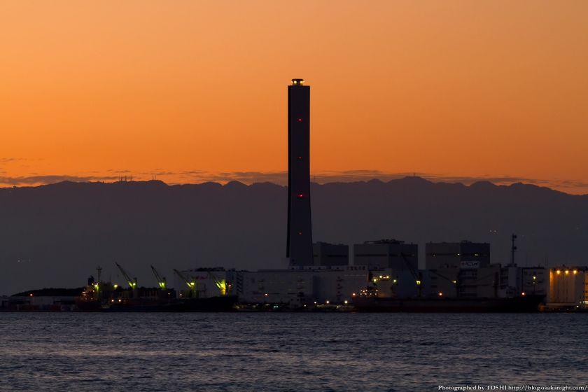 関西電力南港発電所 夕景