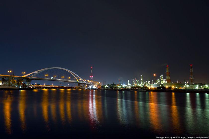 石津漁港の夜景 01