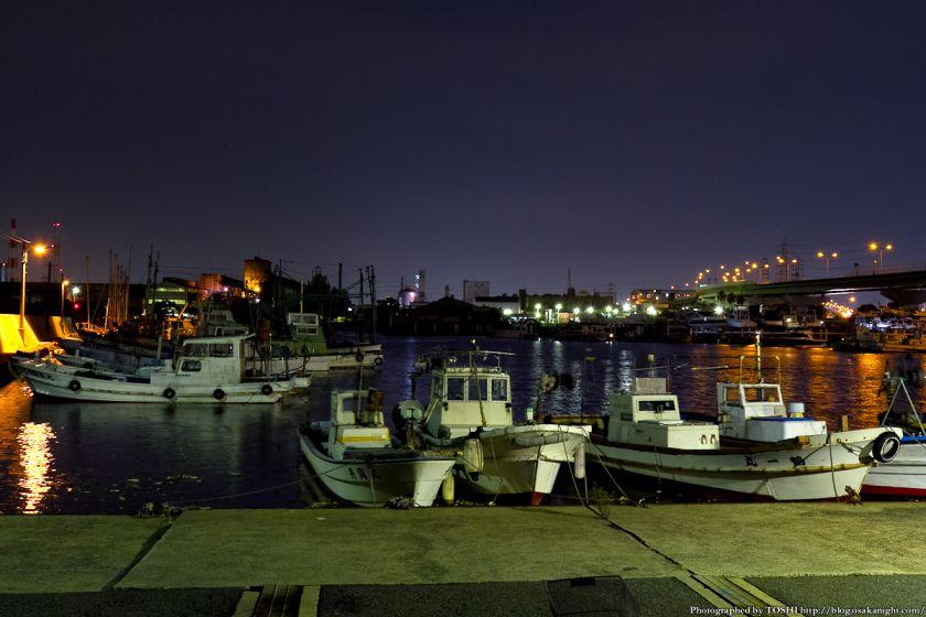 石津漁港の夜景 02