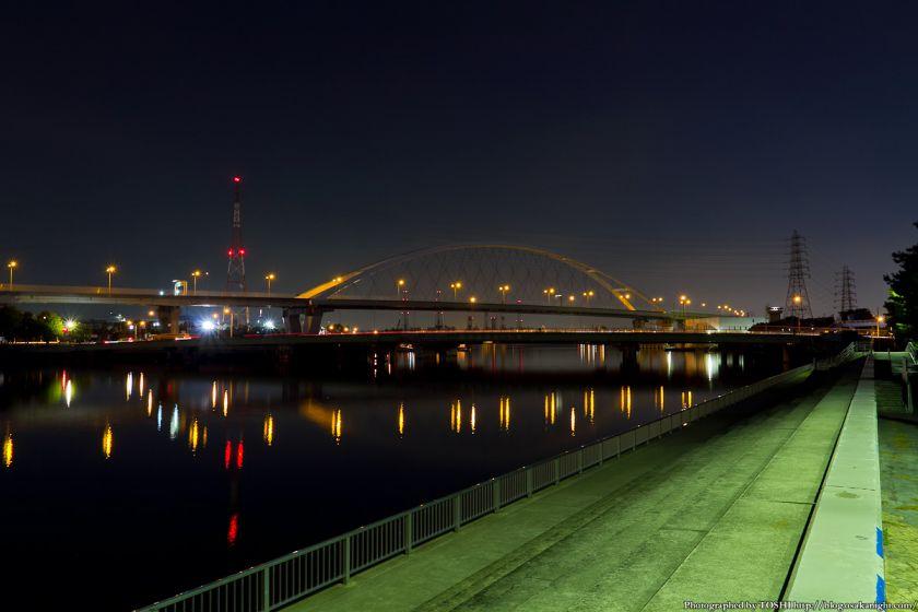 浜寺公園 浜寺水路の夜景 01