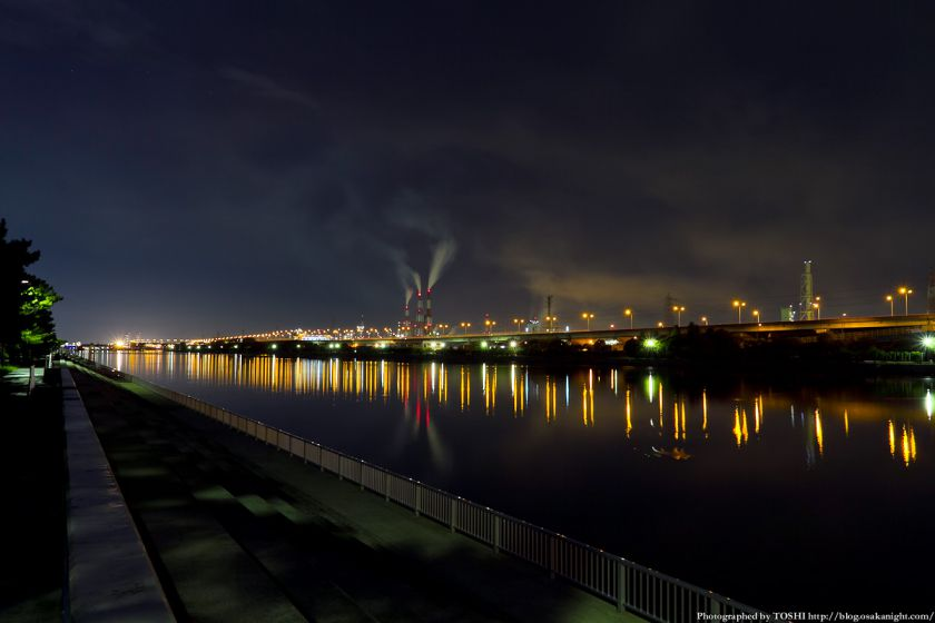 浜寺公園 浜寺水路の夜景 02