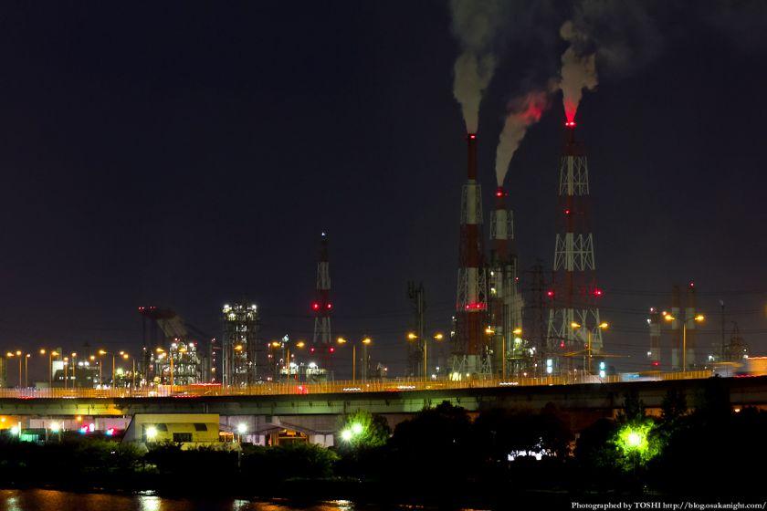浜寺水路と臨海工業地帯の夜景