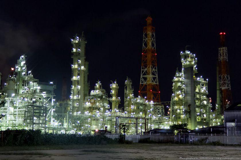 東燃ゼネラル石油 堺工場 夜景 01