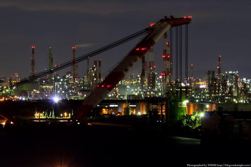 泉大津PAから見る堺泉北臨海工業地帯の夜景 04