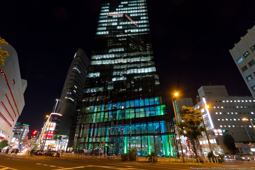 梅田 大阪富国生命ビル ライトアップ 2012年11月 03