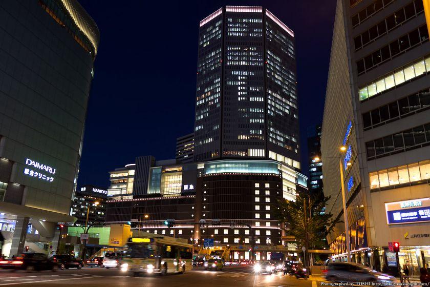 梅田阪急ビル 夜景 2012年11月 01