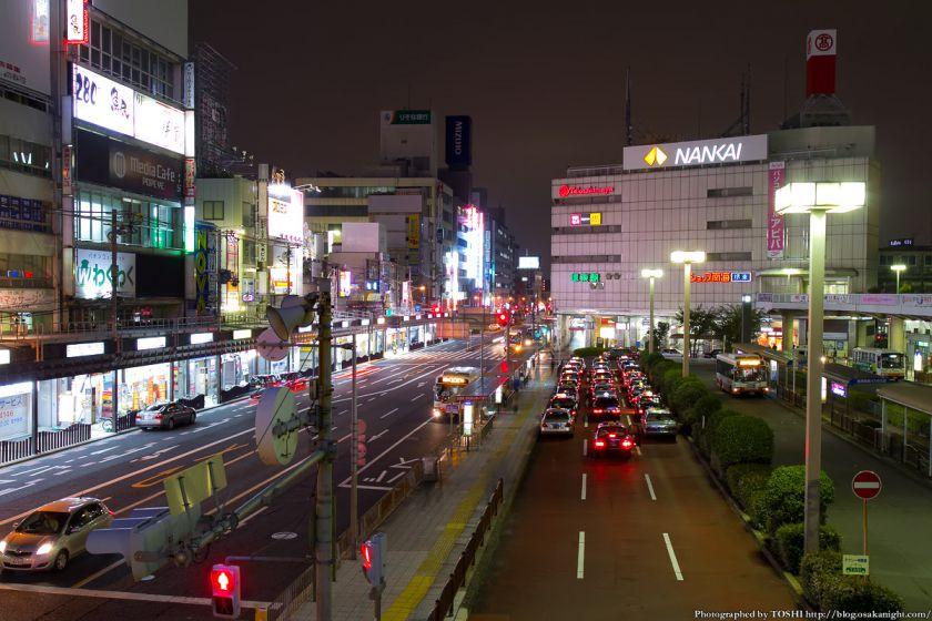 堺市役所 21階展望ロビーからの夜景 2012年11月