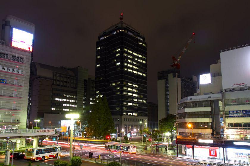 堺市役所 高層館 夜景 2012年11月