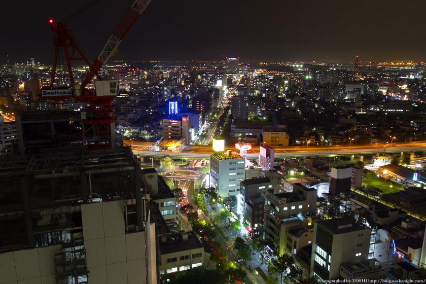 堺市役所21階展望ロビーからの夜景 西方向