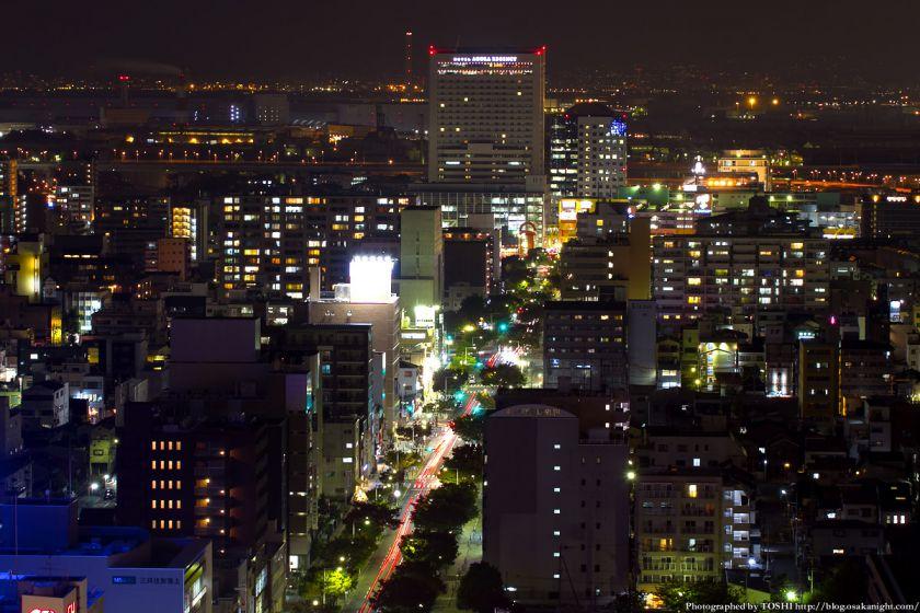 堺市役所21階展望ロビーからの夜景 南海堺駅周辺