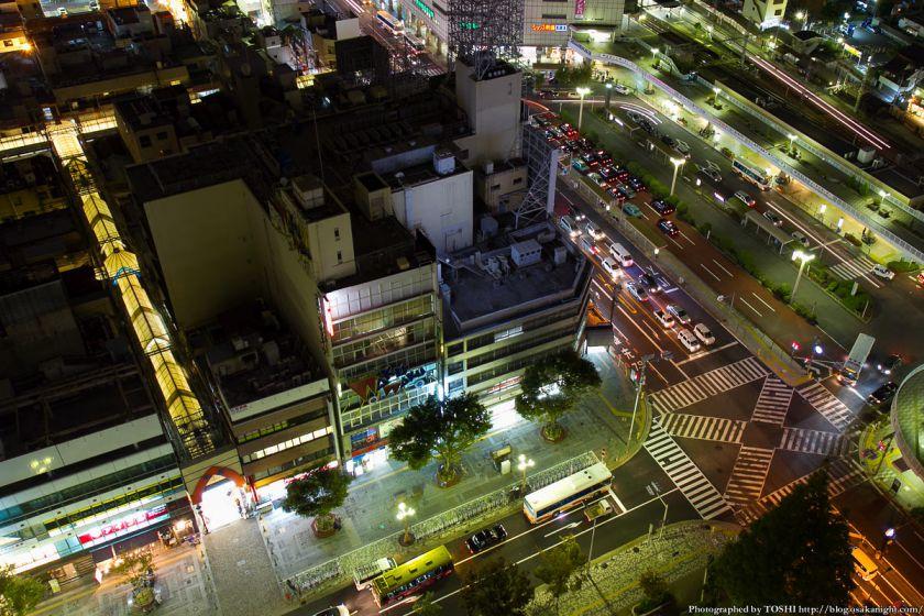 堺市役所21階展望ロビーからの夜景 南海堺東駅周辺 02