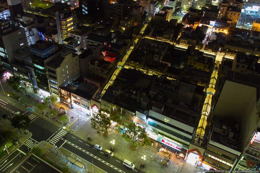 堺市役所21階展望ロビーからの夜景 南海堺東駅周辺 03