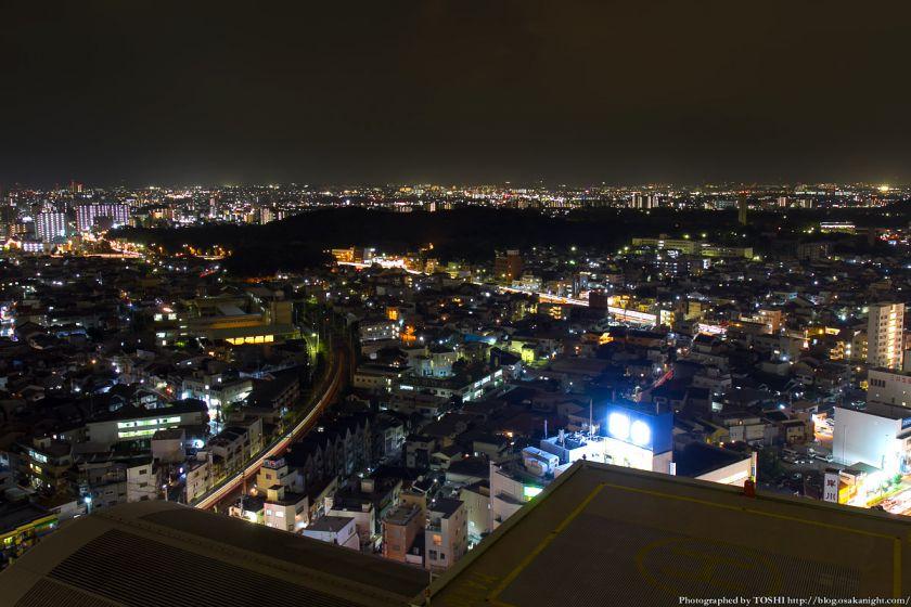 堺市役所21階展望ロビーからの夜景 仁徳天皇陵