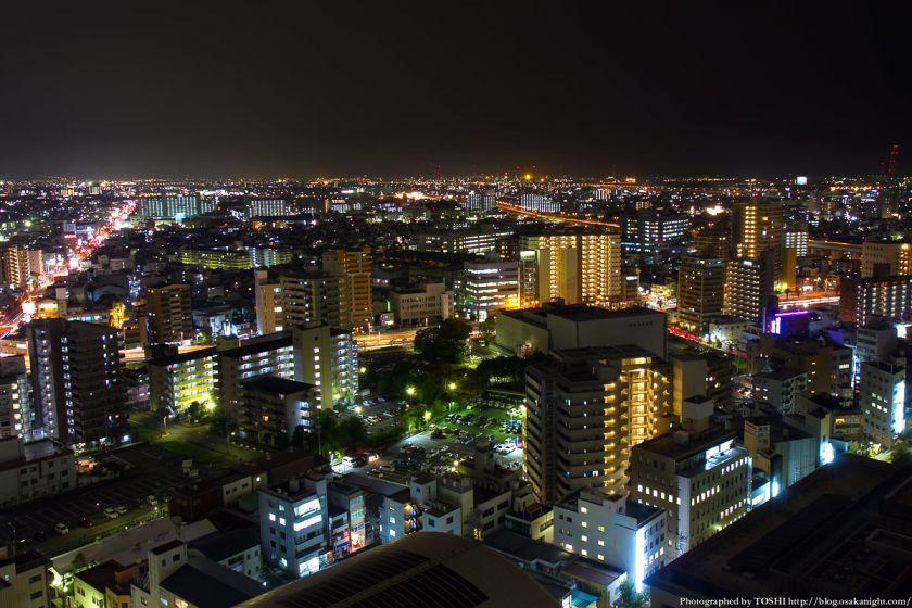 堺市役所21階展望ロビーからの夜景 南方向