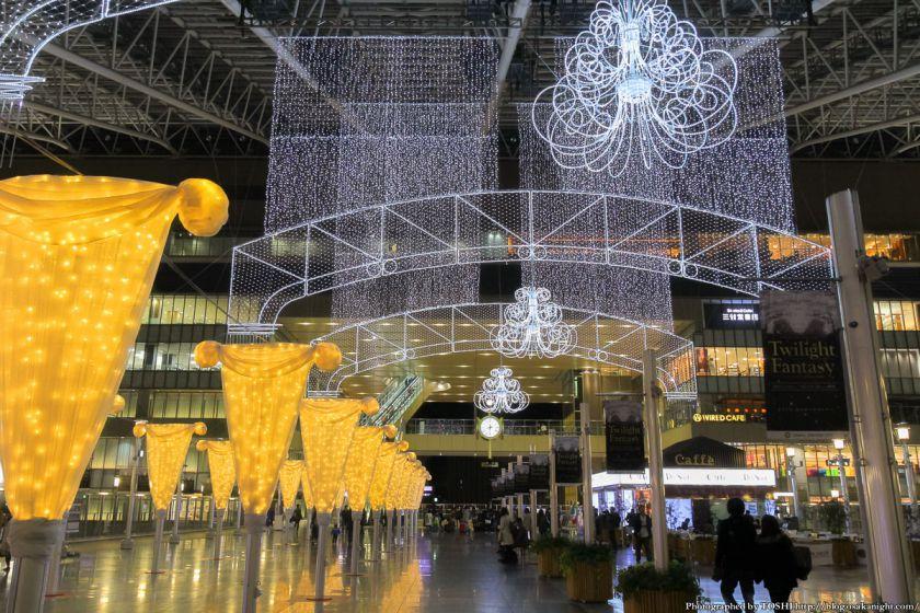 大阪駅 時空の広場 イルミネーション 2012 02