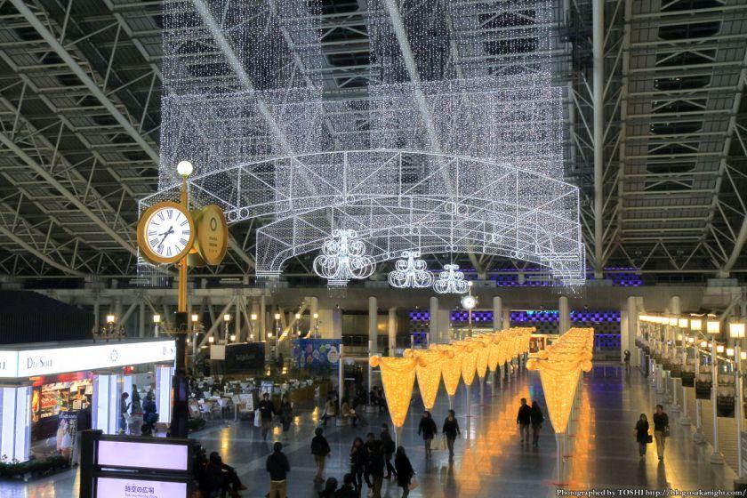 大阪駅 時空の広場 イルミネーション 2012 04