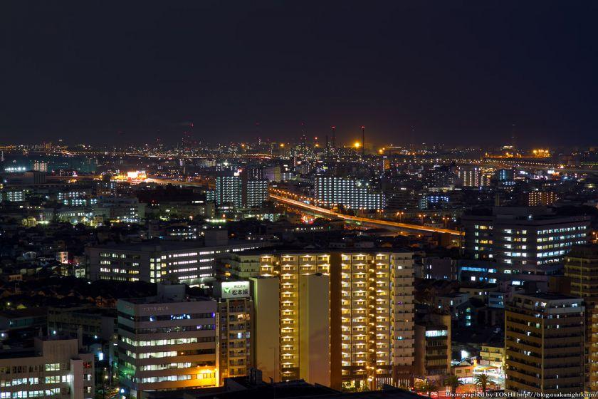 堺市役所から見た堺泉北臨海工業地帯 01
