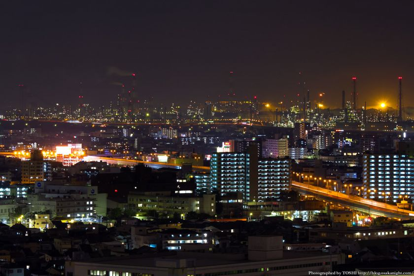 堺市役所から見た堺泉北臨海工業地帯 02