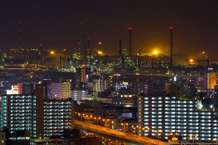 堺市役所から見た堺泉北臨海工業地帯 04