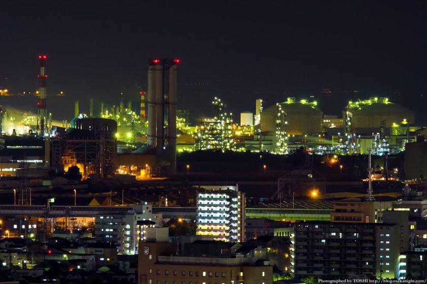 堺市役所から見た堺泉北臨海工業地帯 07