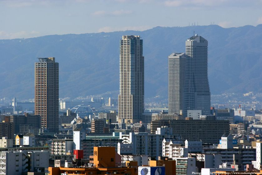 弁天町の高層ビル群