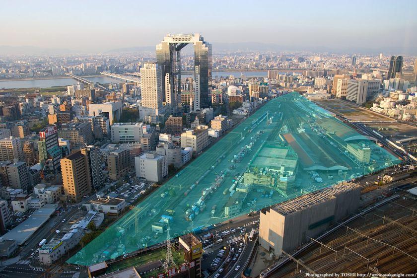 大阪駅北地区(梅田北ヤード)の俯瞰