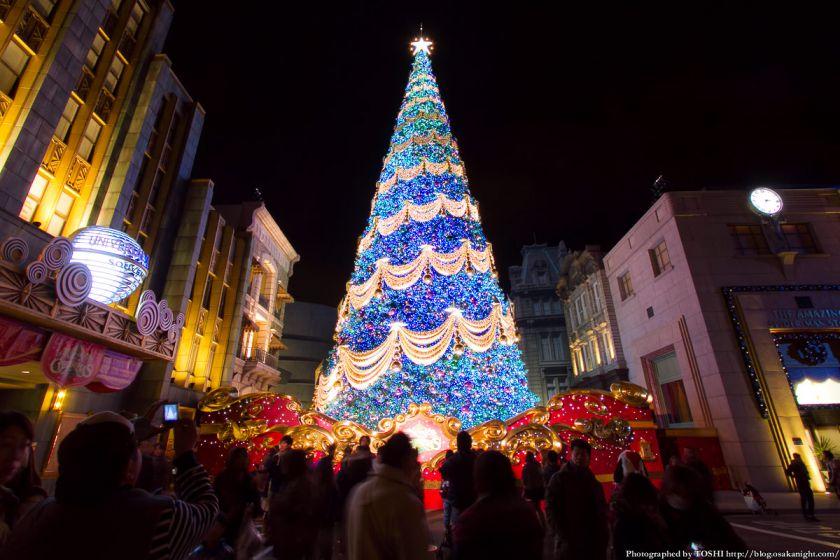 USJクリスマス2012 世界一のクリスマスツリー 01