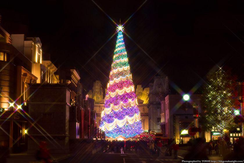 USJクリスマス2012 世界一のクリスマスツリー 02