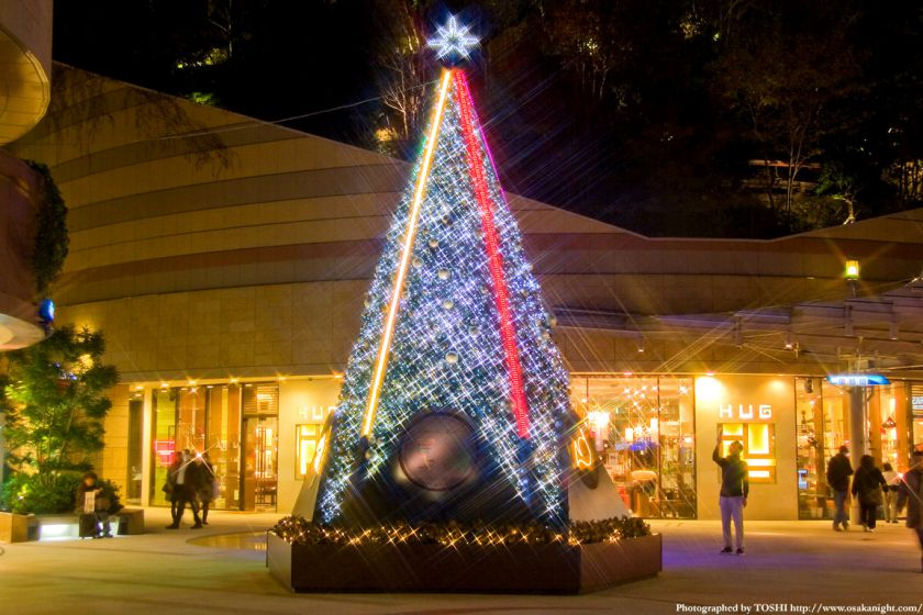 なんばパークスのクリスマスイルミネーション01