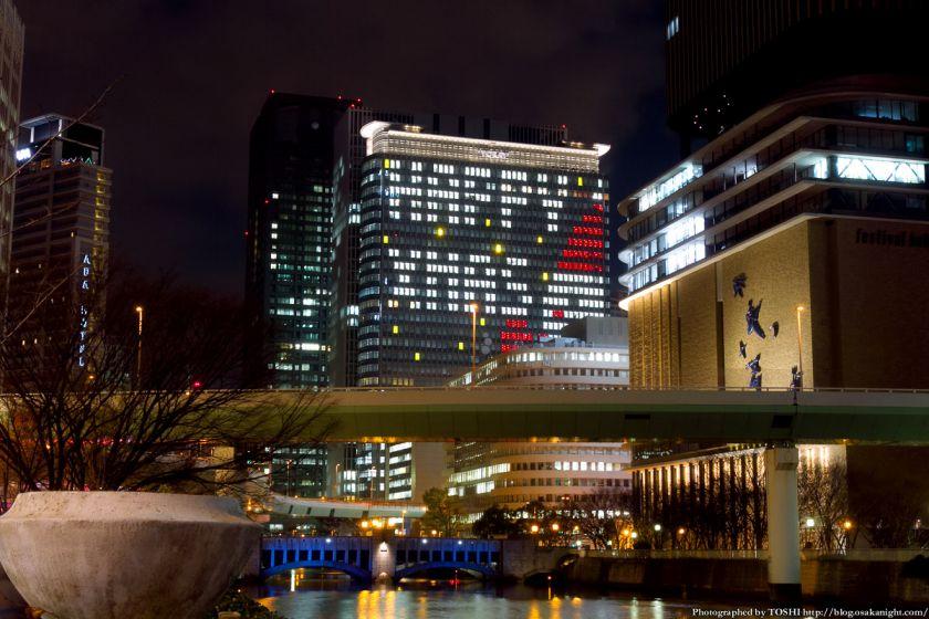 中之島三井ビル クリスマスウィンドウアート Osaka Buillumination 2012 03