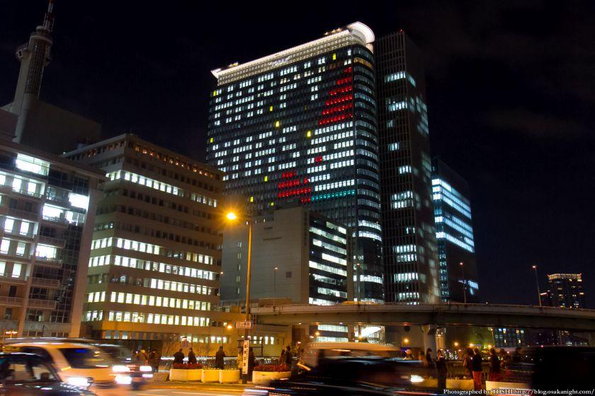 中之島三井ビル クリスマスウィンドウアート Osaka Buillumination 2012 05