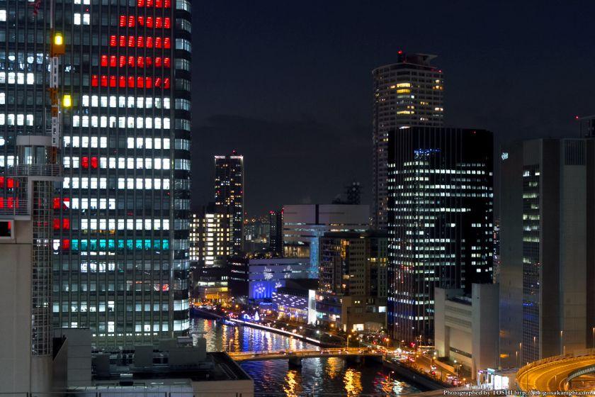 中之島三井ビル クリスマスウィンドウアート Osaka Buillumination 2012 07