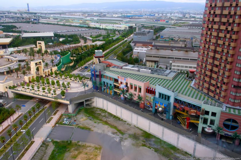 ユニバーサルシティウォーク大阪2期 敷地の俯瞰
