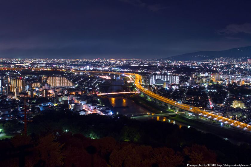 五月山 秀望台 夜景 2012年8月 01