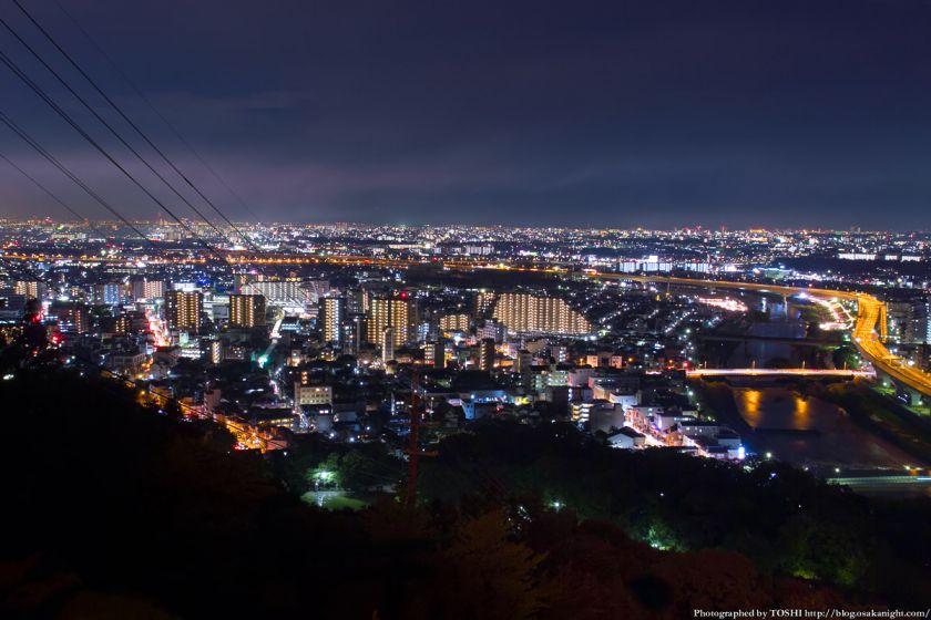 五月山 秀望台 夜景 2012年8月 03
