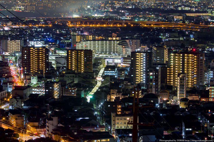 阪急池田駅周辺 夜景 2012年8月