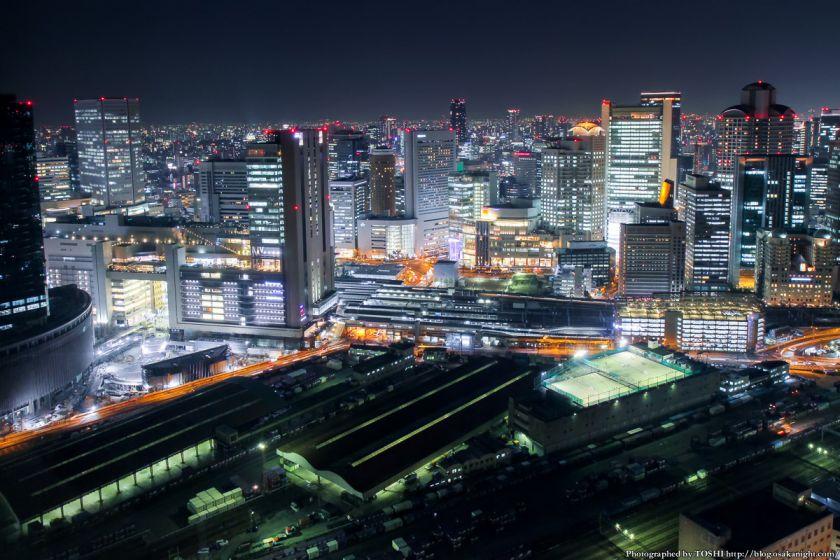 梅田スカイビル 夜景 2013 01