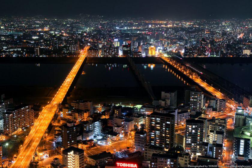 梅田スカイビル 夜景 2013 06