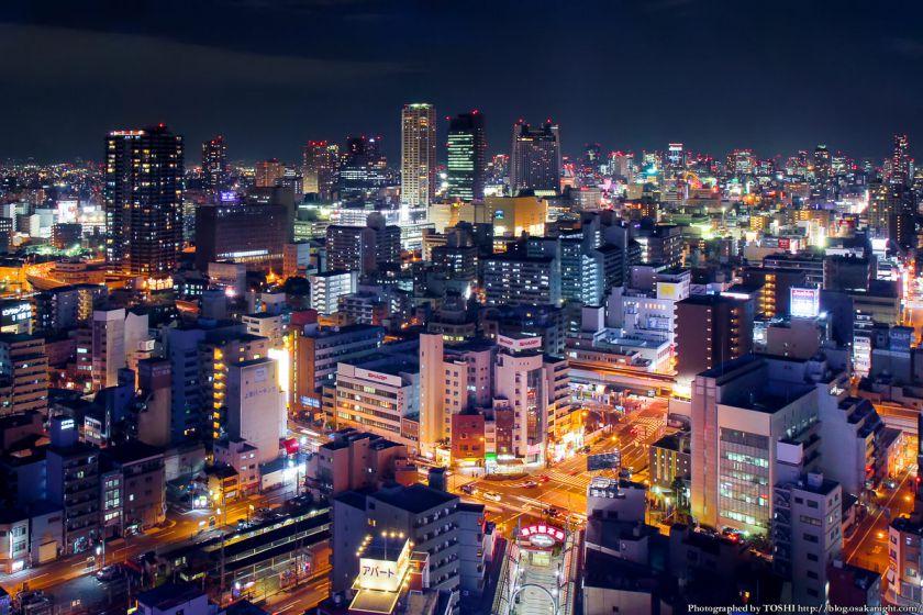 通天閣からの夜景 2013 03