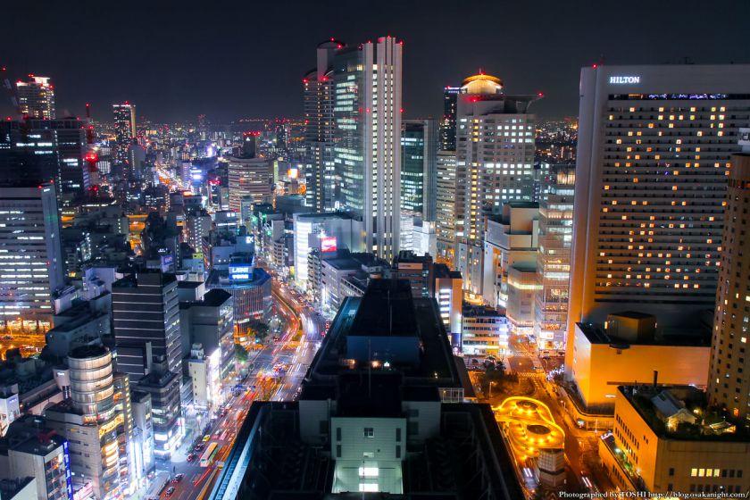 大阪駅前第3ビル 夜景 2013 01