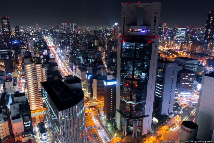 大阪駅前第3ビル 夜景 2013 02