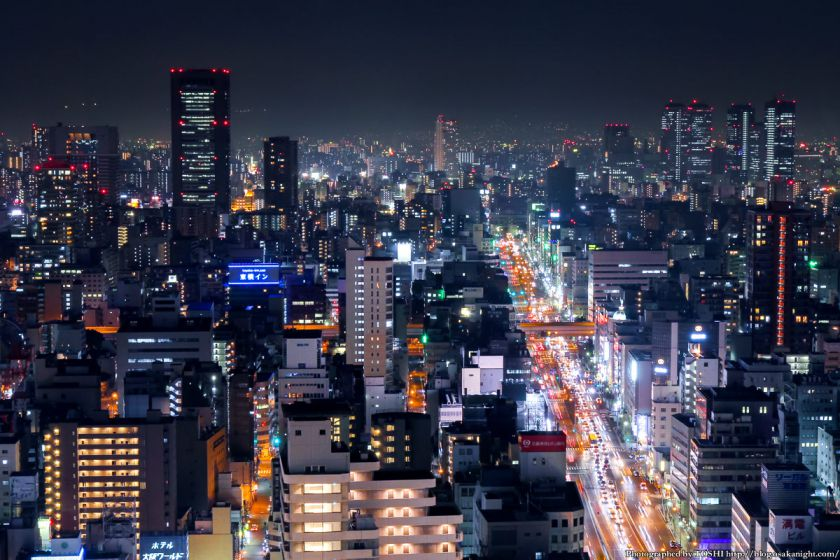 大阪駅前第3ビル 夜景 2013 03
