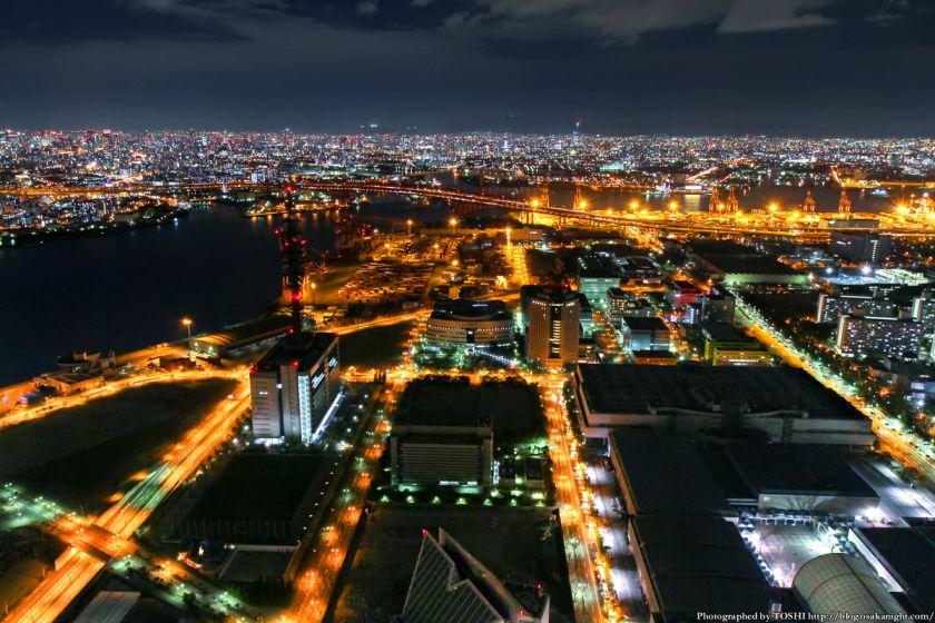 大阪府咲洲庁舎コスモタワー 夜景 2013 01