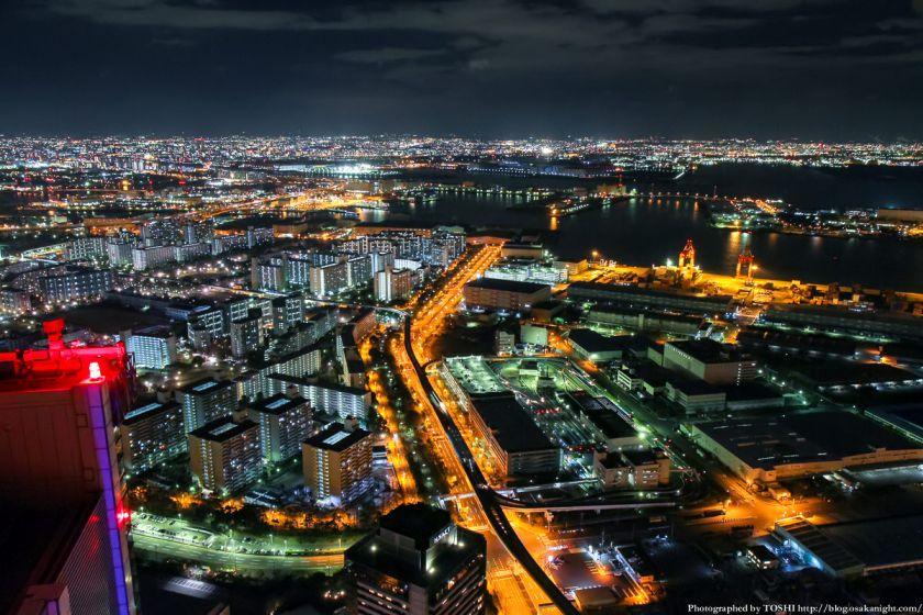 大阪府咲洲庁舎コスモタワー 夜景 2013 03
