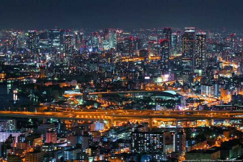 大阪府咲洲庁舎コスモタワー 夜景 2013 04